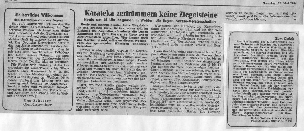 Bayerische Karate Meisterschaft in Weiden