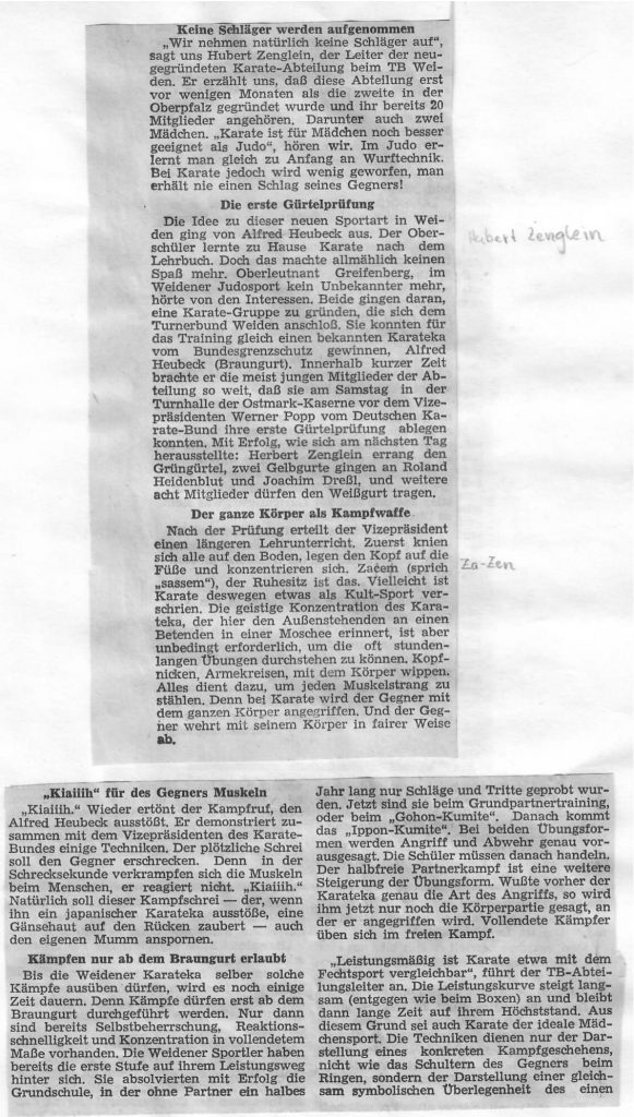 Oberpfälzer Nachrichten 19. März 1968